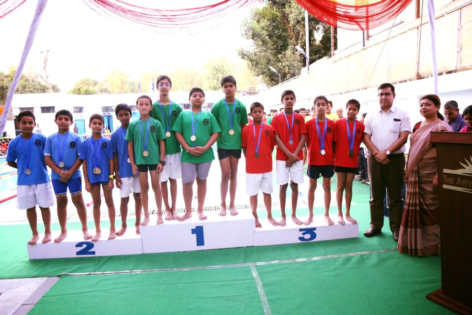 Aquatic Meet held in The Aryan School