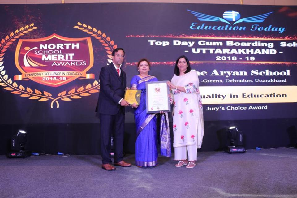 The Aryan School awarded by Education Today for 'Quality in Education'
